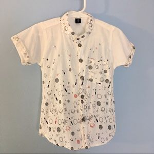 Other - Cute button-down space Tshirt, toddler boy or girl
